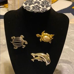 Under the sea look (set of 3 broaches)
